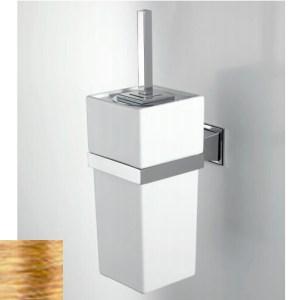 Ершик для туалета Devon&Devon Time TM320OT, латунь/белый