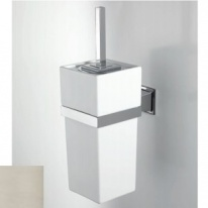 Ершик для туалета Devon&Devon Time TM320NKSA, никель сатинированый/белый