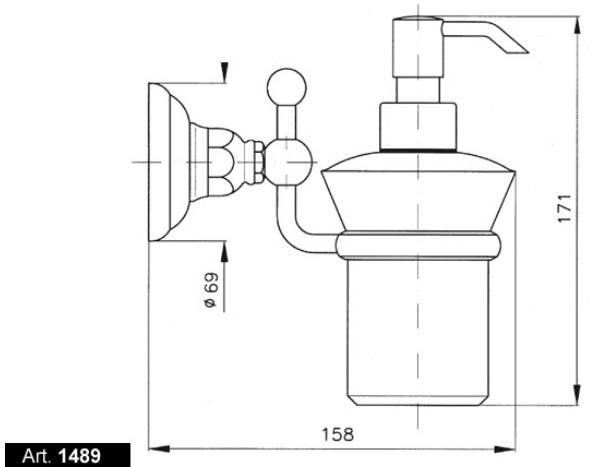 Дозатор мыла Nicolazzi Classica 1489CR, хром