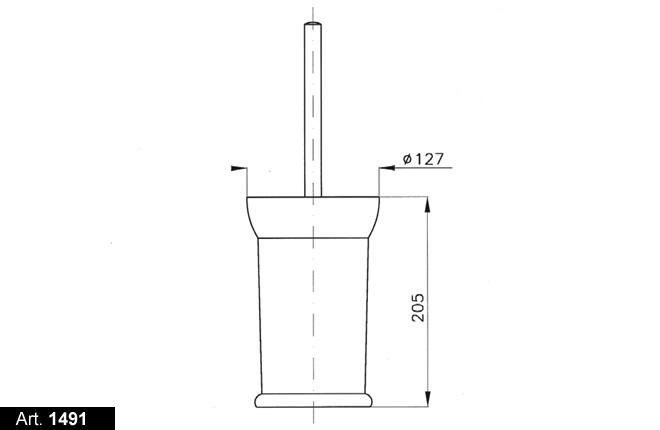 Ершик для туалета Nicolazzi Classica 1491OG, матовая латунь
