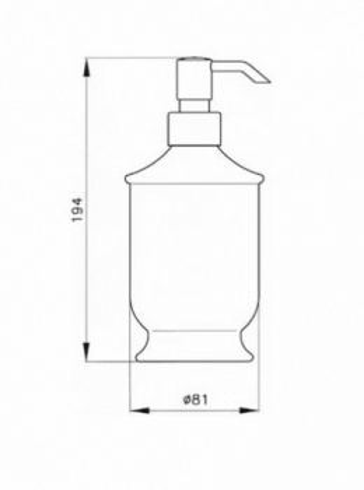 Дозатор для жидкого мыла Nicolazzi Classic 6006 B, черный