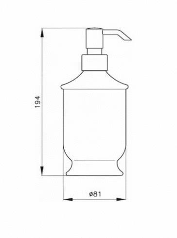 Дозатор для жидкого мыла Nicolazzi Classic 6006 D, с узором