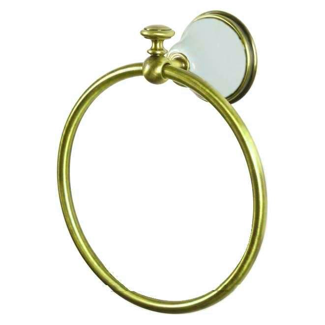Полотенцедержатель кольцевой Tiffany World Harmony TWHA015bi/oro, белый/золото