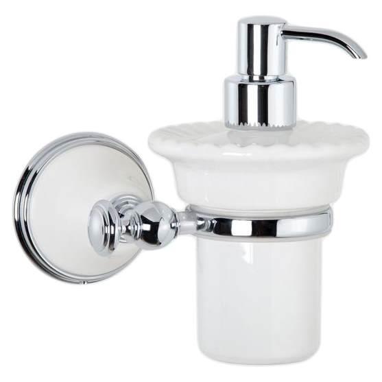 Дозатор жидкого мыла Tiffany World Harmony TWHA108bi/cr, белый/хром