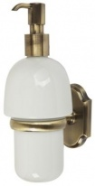 Дозатор жидкого мыла настенный Veragio Stanford, бронза/керамика VR.STD-7770.BR