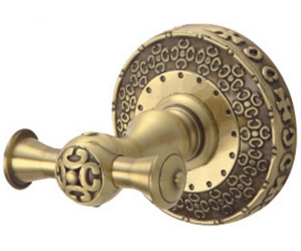 Крючок двойной Zorg Antic AZR 02 BR, цвет бронза