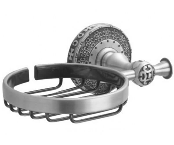 Мыльница решетчатая Zorg Antic AZR 05 SL, цвет серебро