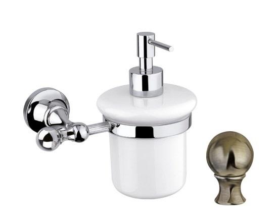 Дозатор для мыла Cezares Olimp SOI-02-M цвет бронза, ручки металл