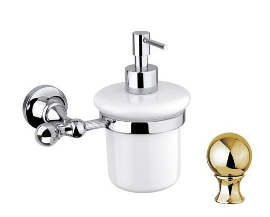 Дозатор для мыла Cezares Olimp SOI-03/24-M цвет золото, ручки металл