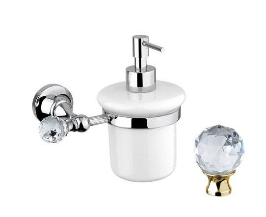 Дозатор для мыла Cezares Olimp SOI-03/24-Sw цвет золото, ручки Swarovski