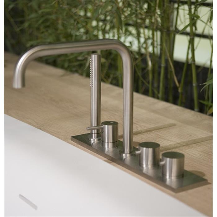 Смеситель Antonio Lupi Ayati AY701SA для ванны и душа, цвет неполированная сталь