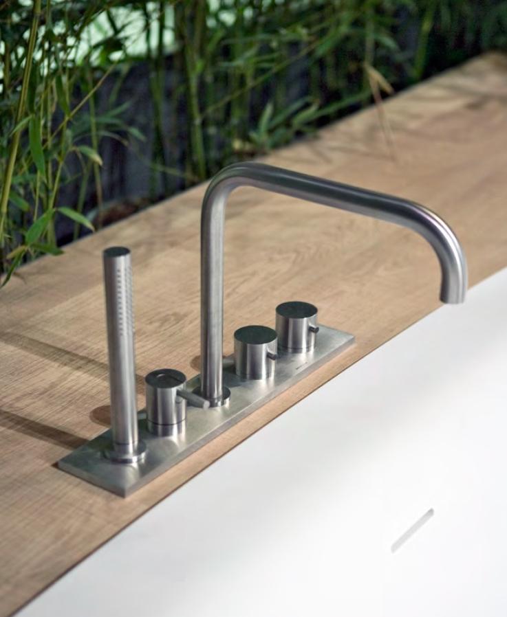Смеситель Antonio Lupi Ayati AY701LU для ванны и душа, цвет полированная сталь