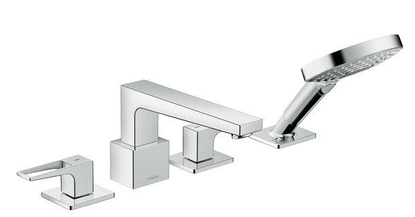 Смеситель Hansgrohe Metropol 74552000 для ванны, набор Secuflex