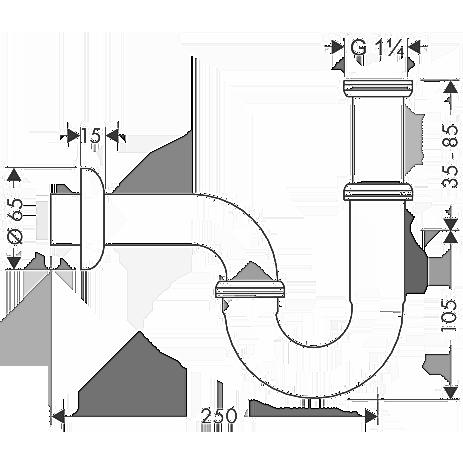 Сифон для раковины Hansgrohe 53002000