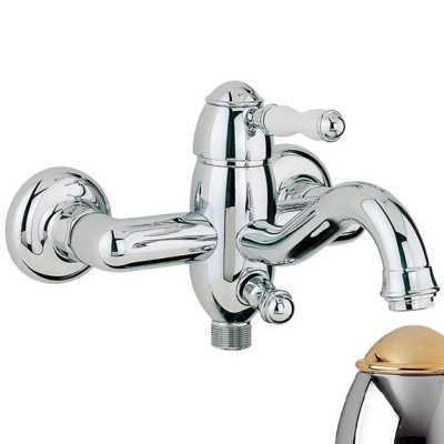 Смеситель Bandini Antico 855620KOSF для ванны/душа, хром-золото/ручка керамическая Antico