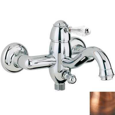 Смеситель Bandini Antico 855820JJSF для ванны/душа, медь/ручка Swarowski Antico