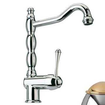 Смеситель Bandini Antico 857120KO00 для кухни, хром-золото/ручка металлическая Antico