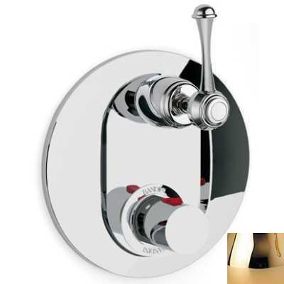 Смеситель термостатический Bandini Antico арт. 824720KK06D для ванны/душа, ручка металлическая Antico, золото