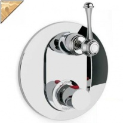 Смеситель термостатический Bandini Antico арт. 824720ZZ06D для ванны/душа, ручка металлическая Antico, цирконий