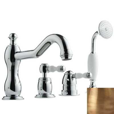 Смеситель Bandini Antico 5166400YY0G для ванны/душа, бронза/ручка керамическая Antico