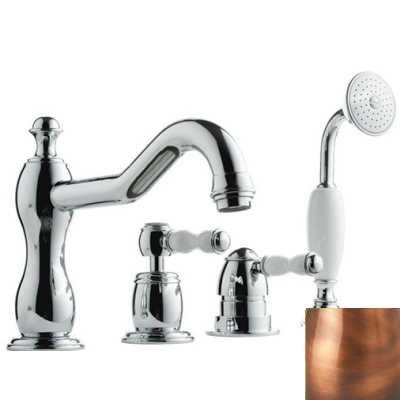 Смеситель Bandini Antico 5166400JJ0G для ванны/душа, медь/ручка керамическая Antico