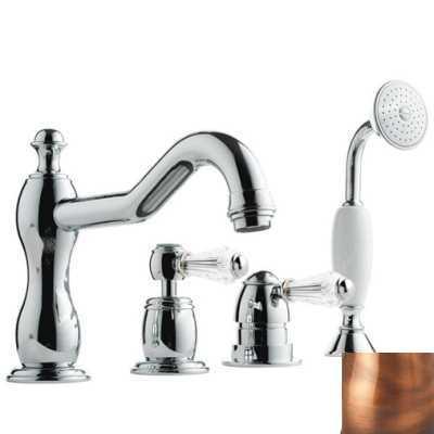 Смеситель Bandini Antico 5168400JJ0G для ванны/душа, медь/ручка Swarowski Antico