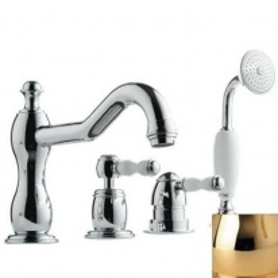 Смеситель Bandini Antico 5166400KK0G для ванны/душа, золото/ручка керамическая Antico