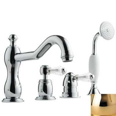 Смеситель Bandini Antico 5168400KK0G для ванны/душа, золото/ручка Swarowski Antico