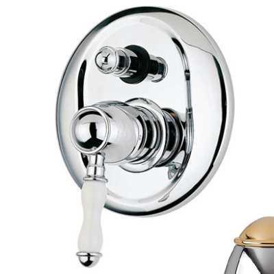 Смеситель Bandini Antico 854620KO06 для ванны/душа, хром-золото/ручка керамическая Antico