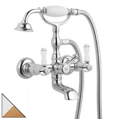 Смеситель Bandini Antica 544720KO06 для ванны/душа, хром/золото