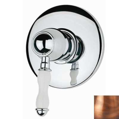 Смеситель Bandini Antico арт. 854620JJ00 для душа, ручка керамическая Antico, медь