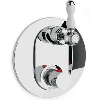 Смеситель термостатический Bandini Antico арт. 8246200006D для ванны/душа, ручка керамическая Antico, хром