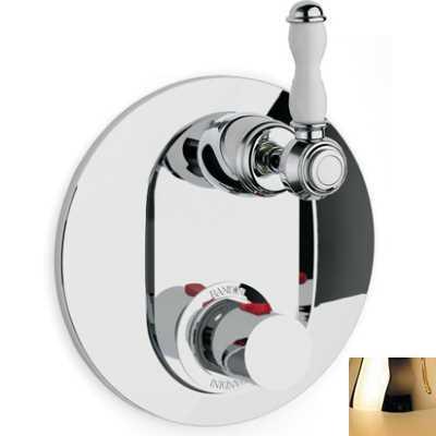 Смеситель термостатический Bandini Antico арт. 824620KK06D для ванны/душа, ручка керамическая Antico, золото