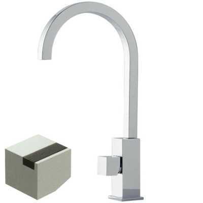 Смеситель Bandini Ice Cube 750220PN01LW для раковины, никель/ручка венге