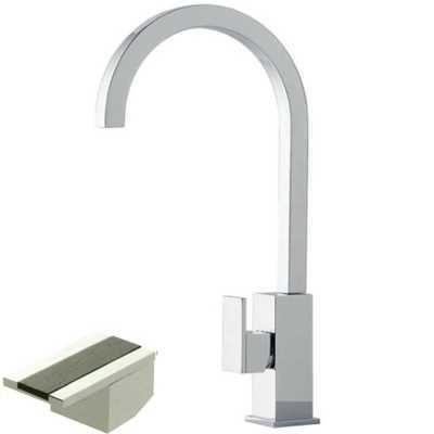 Смеситель Bandini Ice Cube 750220PN02LW для раковины, никель/ручка венге