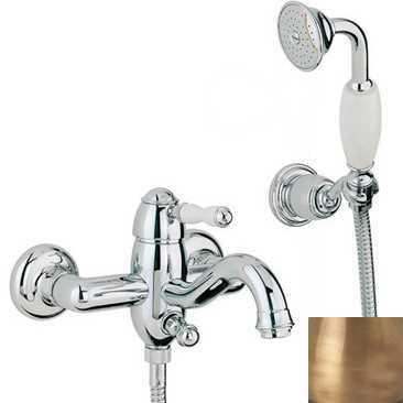 Смеситель Bandini Antico 855620YY00 для ванны/душа, бронза/ручка керамическая Antico
