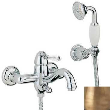 Смеситель Bandini Antico 855820YY00 для ванны/душа, бронза/ручка Swarowski Antico