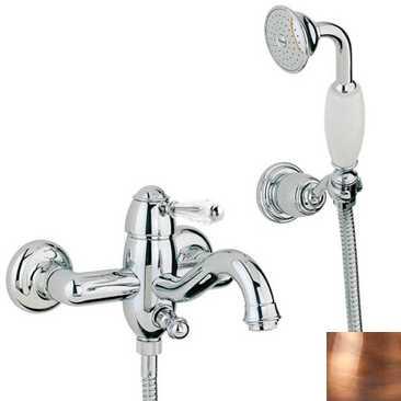 Смеситель Bandini Antico 855820JJ00 для ванны/душа, медь/ручка Swarowski Antico