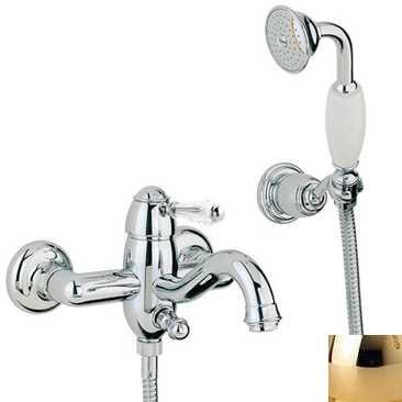 Смеситель Bandini Antico 855820KK00 для ванны/душа, золото/ручка Swarowski Antico