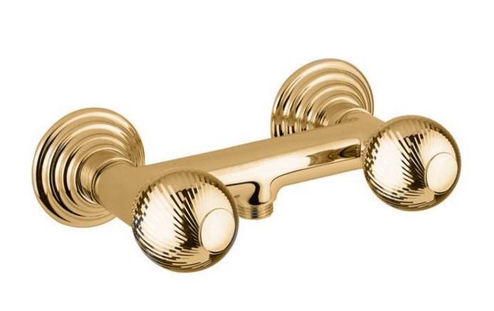 Смеситель Cezares Olimp DS-03/24-M цвет золото, ручки круглые металл