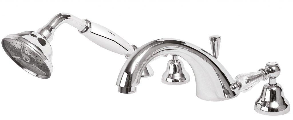 Смеситель Cezares DIAMOND-BVD-01-Sw для ванны, хром, ручки Swarovski