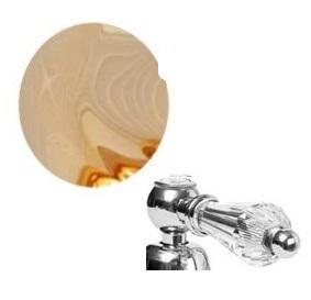 Смеситель Cezares DIAMOND-BVD-03/24-Sw для ванны, золото, ручки Swarovski
