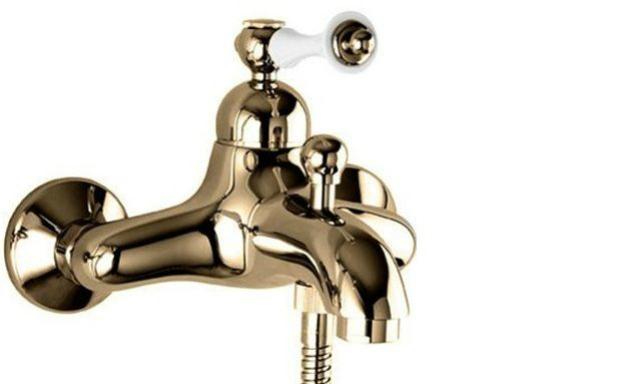 Смеситель Cezares Margot арт. MARGOT-VM-02-Bi для ванны/душа, бронза/белый