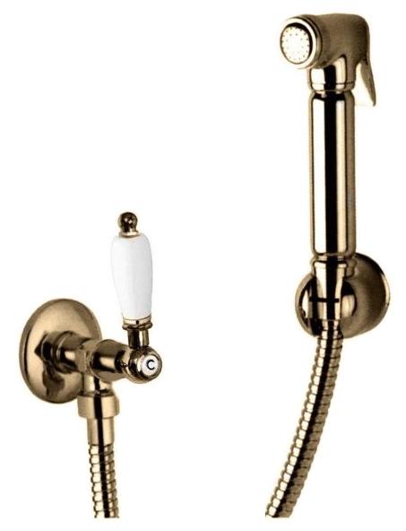 Гигиенический душ Cezares арт. FIRST-KS-02-Bi, бронза, ручка белая