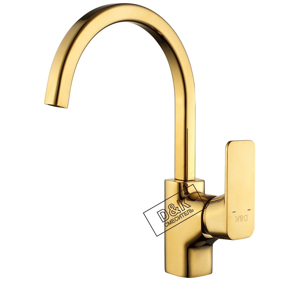 Смеситель D&K Berlin DA143241 для кухни, золото (титан)