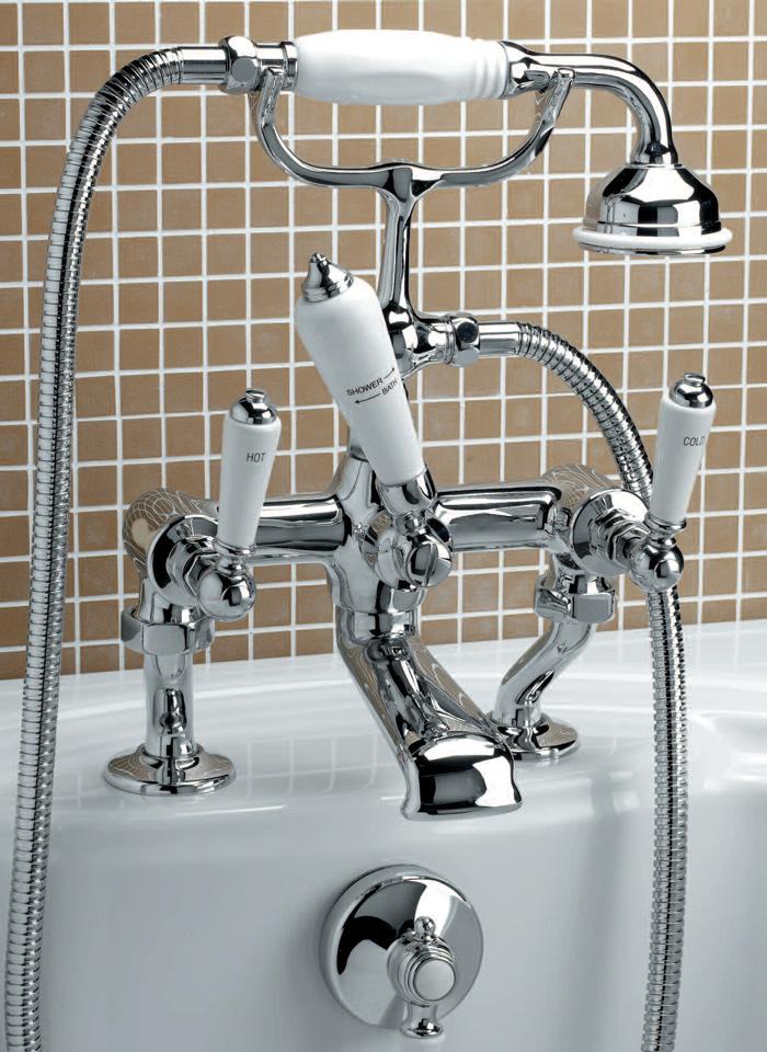 Смеситель Devon&Devon Dandy MARF40BCR для ванны/душа на борт ванны, хром