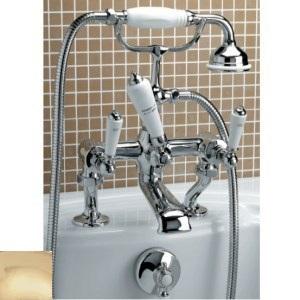 Смеситель Devon&Devon Dandy MARF40B для ванны/душа на борт ванны, светлое золото