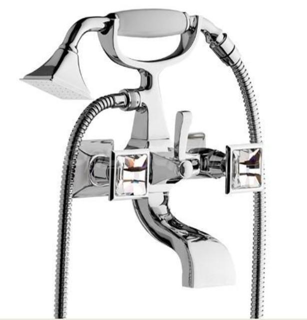 Смеситель Effepi Chic Diamante 44004-cr для ванны, цвет хром