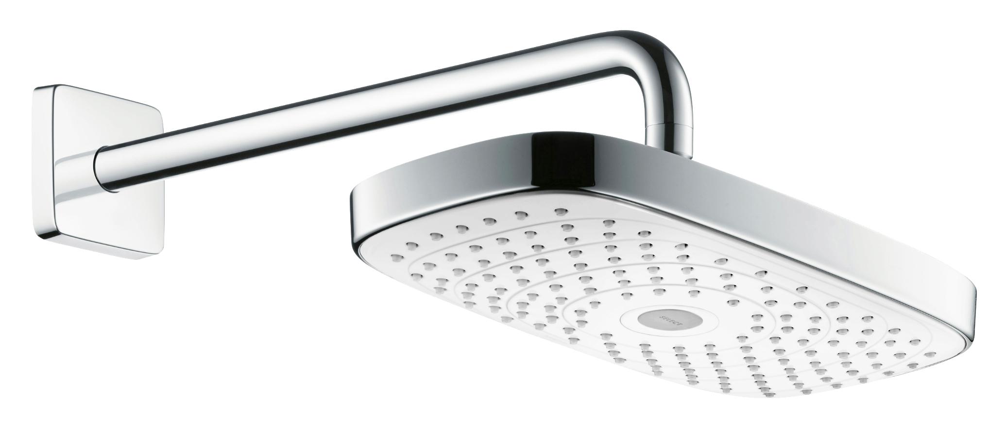 Верхний душ Hansgrohe Select E 300 2jet 27385400, белый/хром VSTV