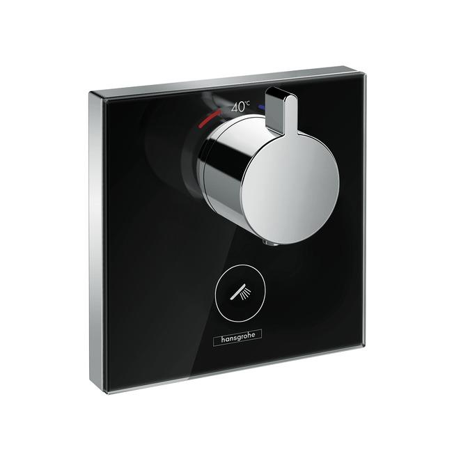 Смеситель Hansgrohe ShowerSelect Highflow термостатический, черный/хром